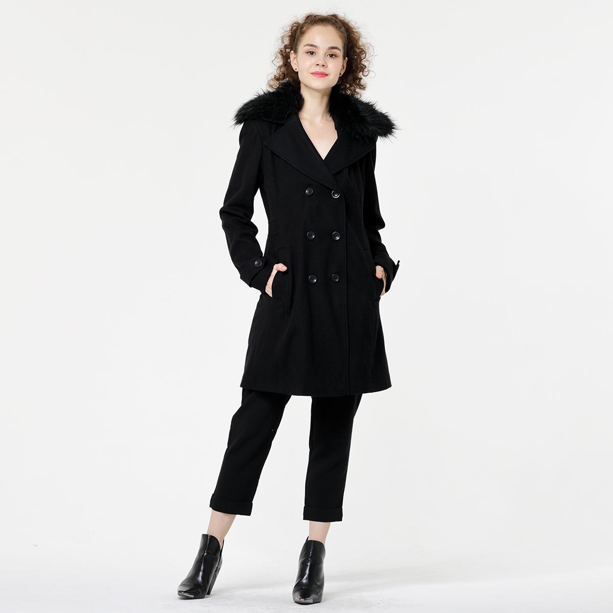 Lady's long woolen coat