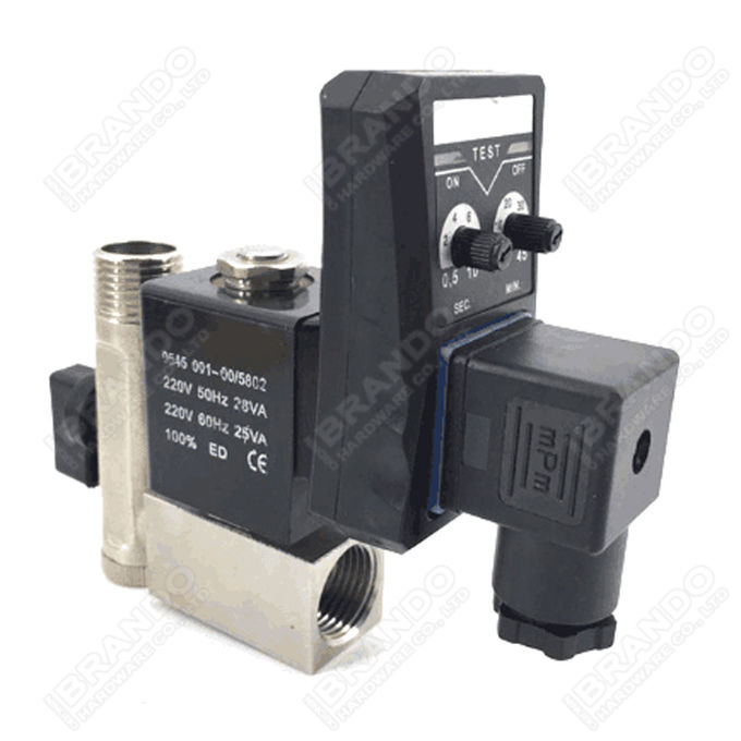 0927000 1/4'' Solenoid Valve For Screw Air Compressor 24VDC 220VAC 3