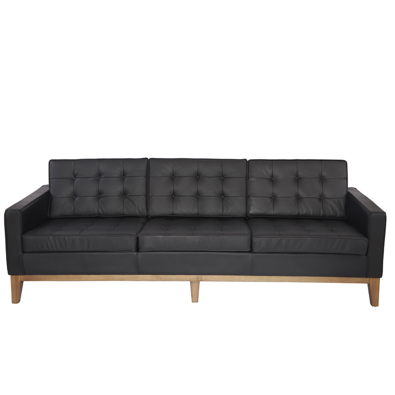 Classic Knoll Leather Sofa
