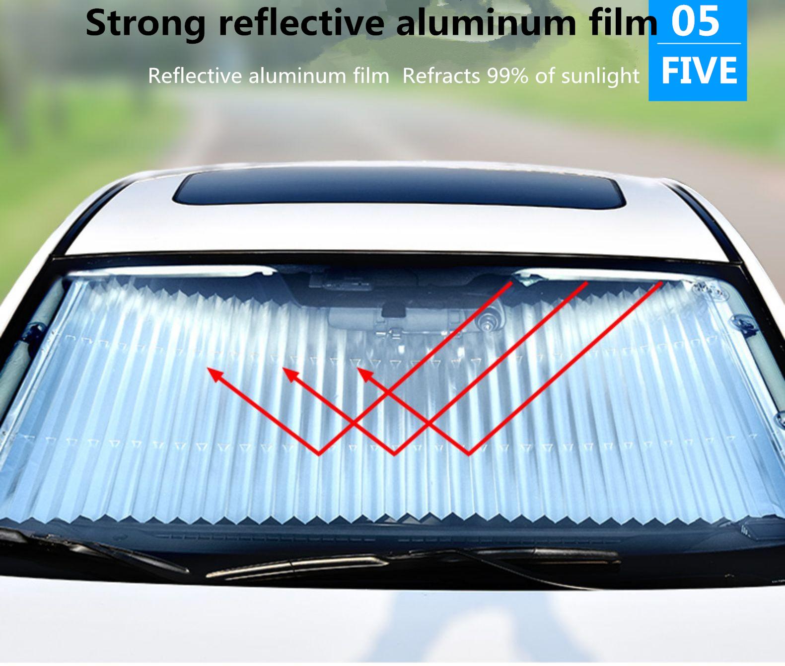 Hot sell raindrop printed pattern aluminum foil pe foam windshield auto car shades for windows