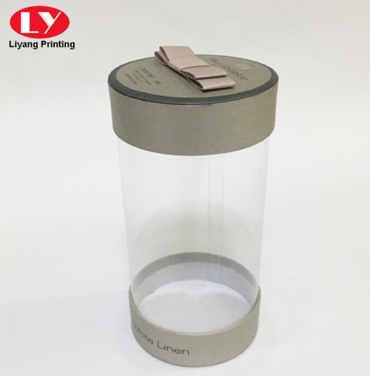 PVC round box with ribbon bow