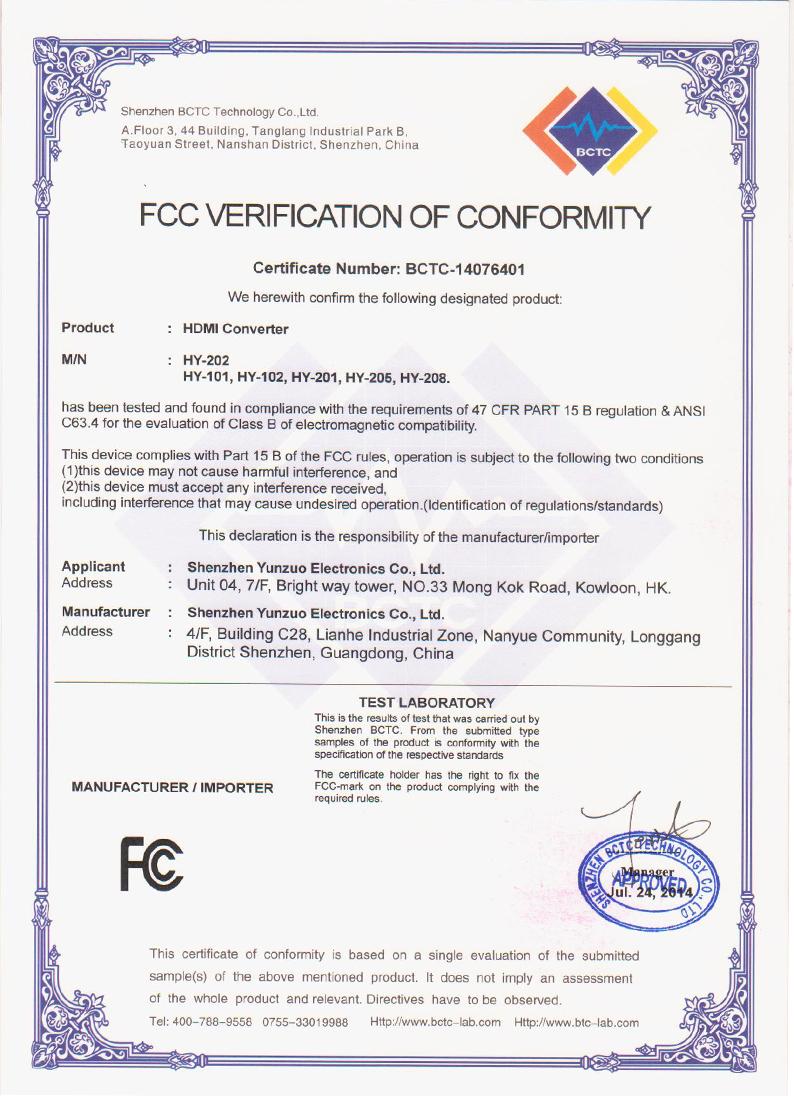 converter fcc