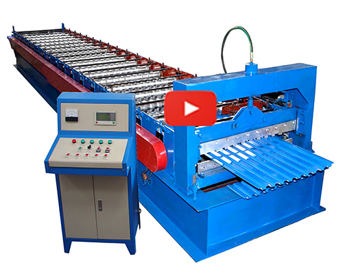 Steel Roofing Sheet Cold Rolling Forming Machine