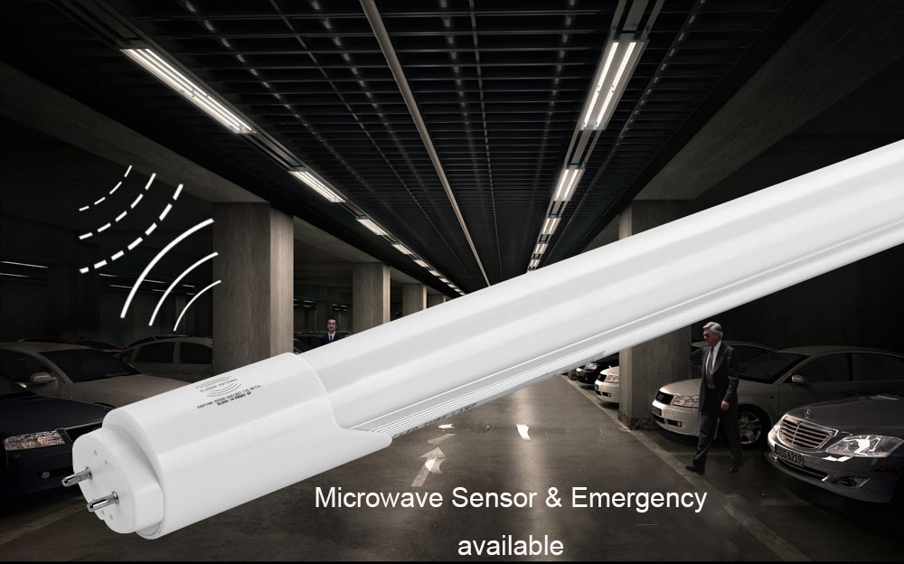 How is a Microwave Sensor LED T8 Tube working