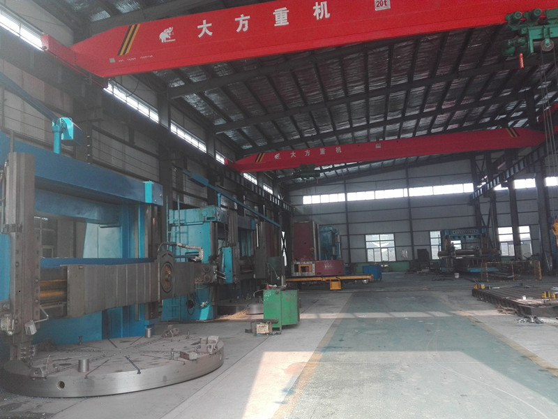 Double column vertical turning lathe machine