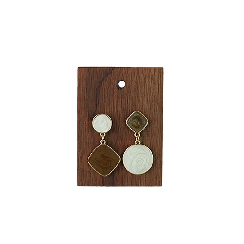 wooden Earrings Rings Holder