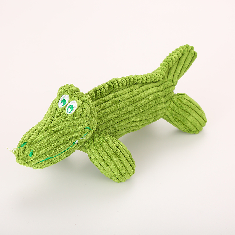 Großhandel Cord Plüsch Lende und Krokodil-Haustierspielzeug mit Sound