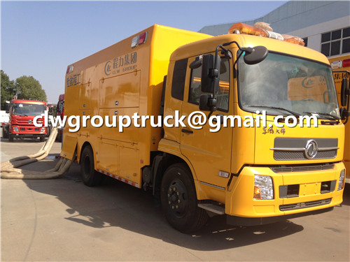 CLW GROUP TRUCK Rescue Engineering Utility Vehicle is Working