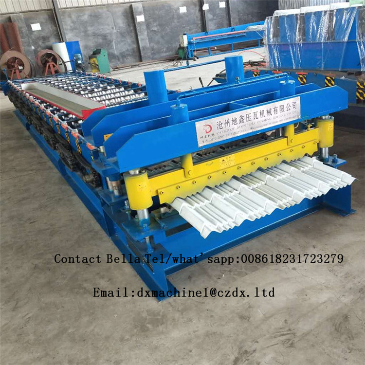 new design cold roll glazed tile forming machine