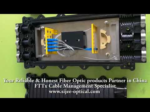 1X32 PLC Splitter Fiber Optic Splice Closure FOSC