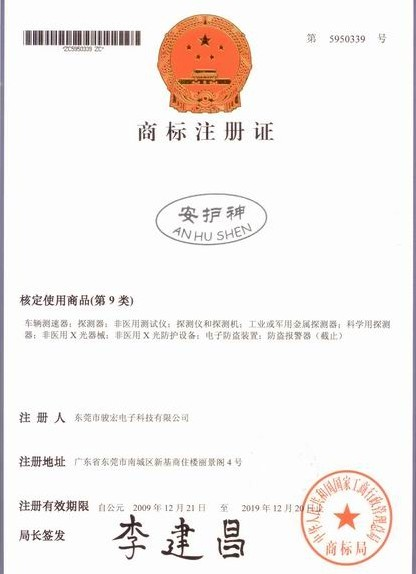 Certificates of Trademark Registration