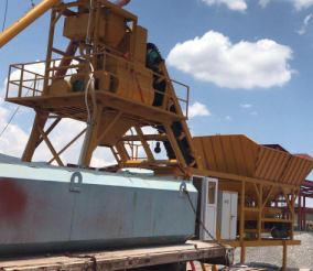Mobile Concrete Batch Plant is working in Peru