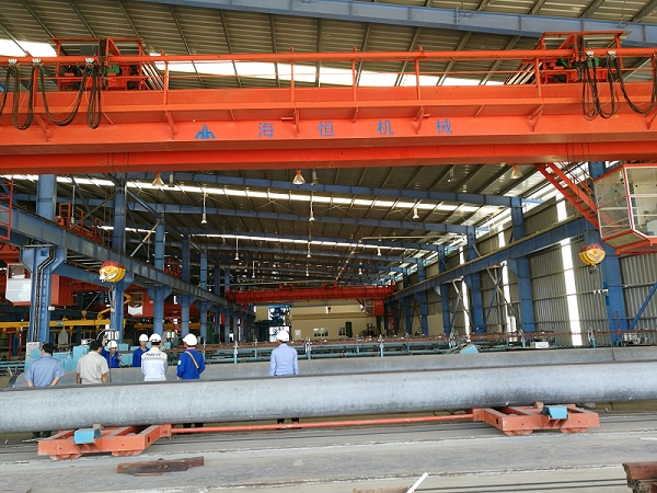 PHC spun pile mould and spun pile and concrete pole production line