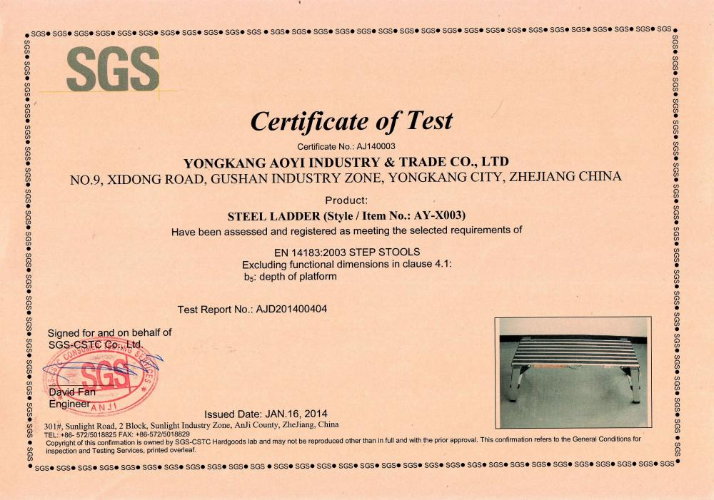 Certificate Of Test