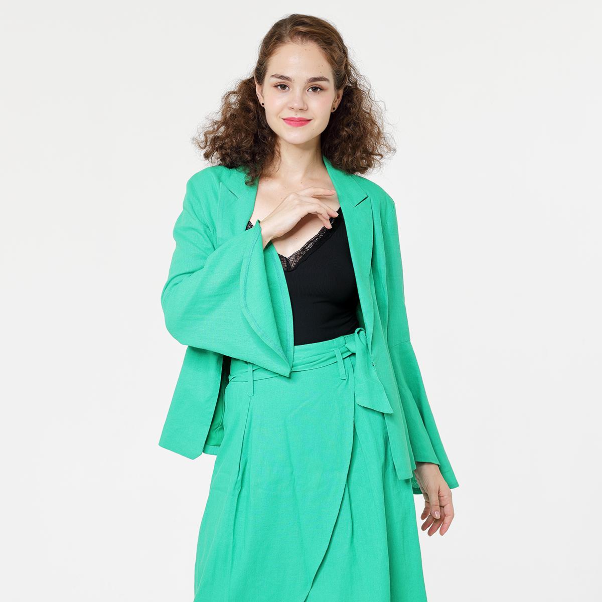 Linen viscose Lady's blazer set