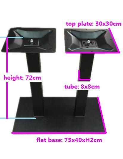 European market modern coffee table iron base