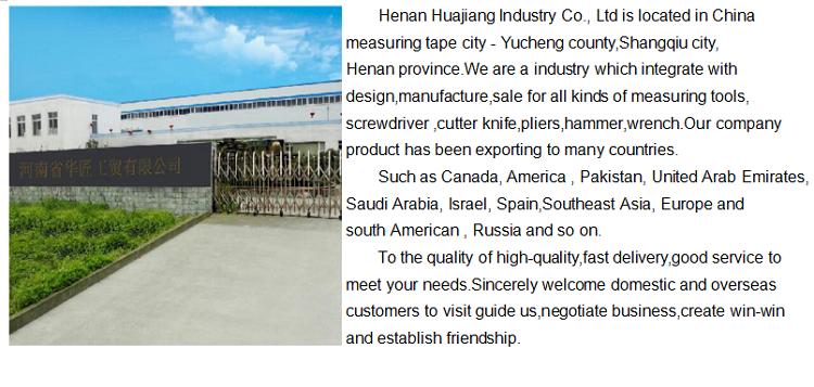 10m 30m 50m China Venda por atacado Ferramentas de medição Fita métrica de fibra de vidro elástica de longa distância de PVC 50 m