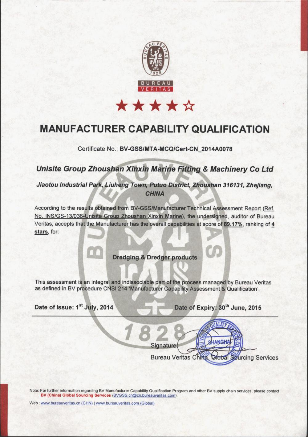 MANUFACTURER CAPABILITY QUALIFICATION