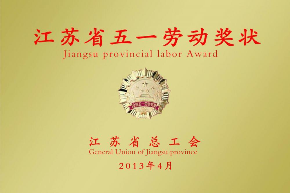 Jiangsu provincial labor Award