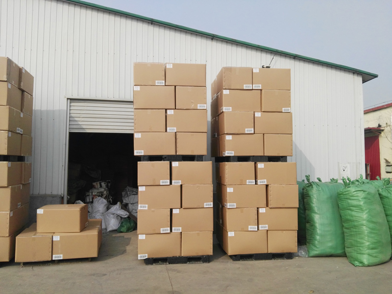 Towels Packaged on Pallets Before Shipping