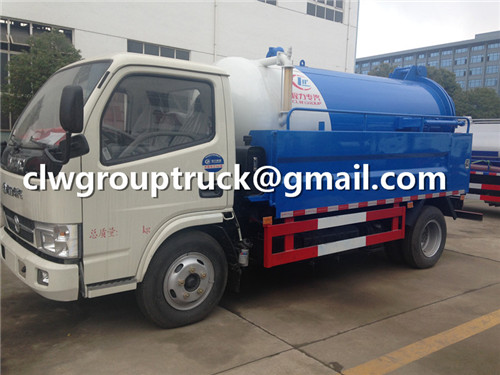 CLW GROUP TRUCK Sewage Suction Truck is Cleaning