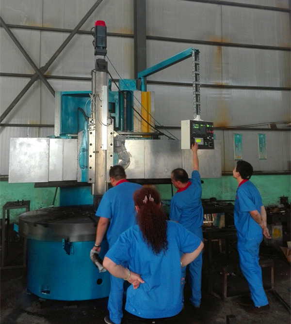 DRO Vertical lathe debugging process