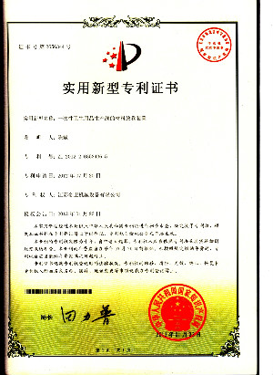 The utility model patent certificate 20