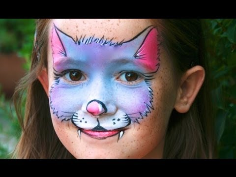 Kitty Cat face painting tutorial Easy Cat makeup