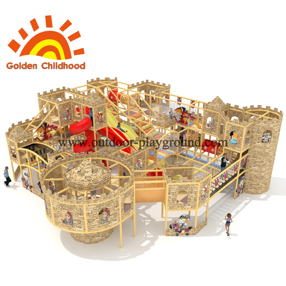 Wooden Castle Indoor Playground Equipment For Kids