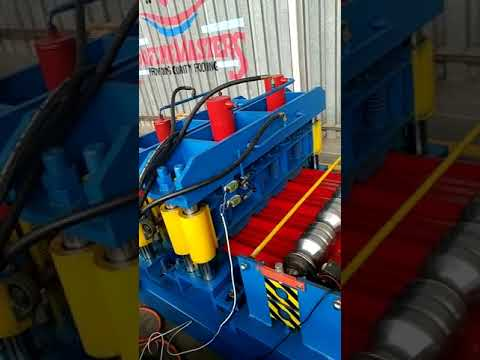 Iron sheet metal roof glazed tile sheeting rolling machine