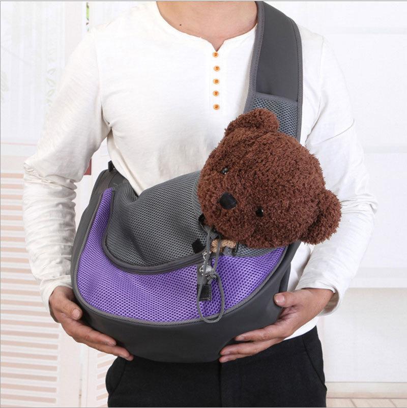 Sac à bandoulière à une épaule pour chien et chat pour chiot SM Out Travel Cages, transporteurs et maisons pour transporter un animal de compagnie à l'extérieur 1 pc/sac