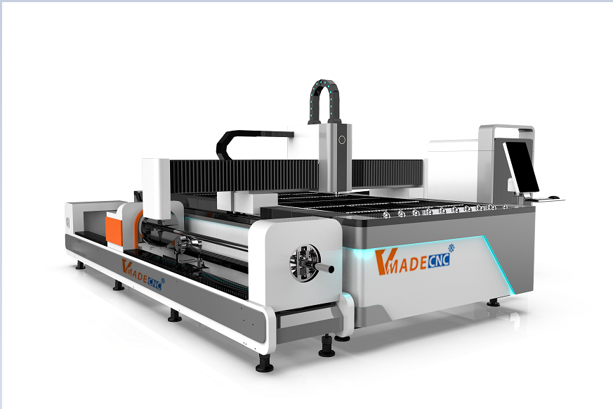 Fiber laser Cutting Machine With Rotary