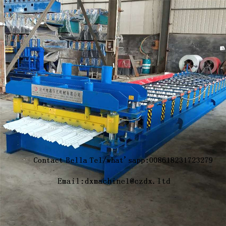Hot Sale Glazed Steel Tile Roll Forming Pressing Machine China