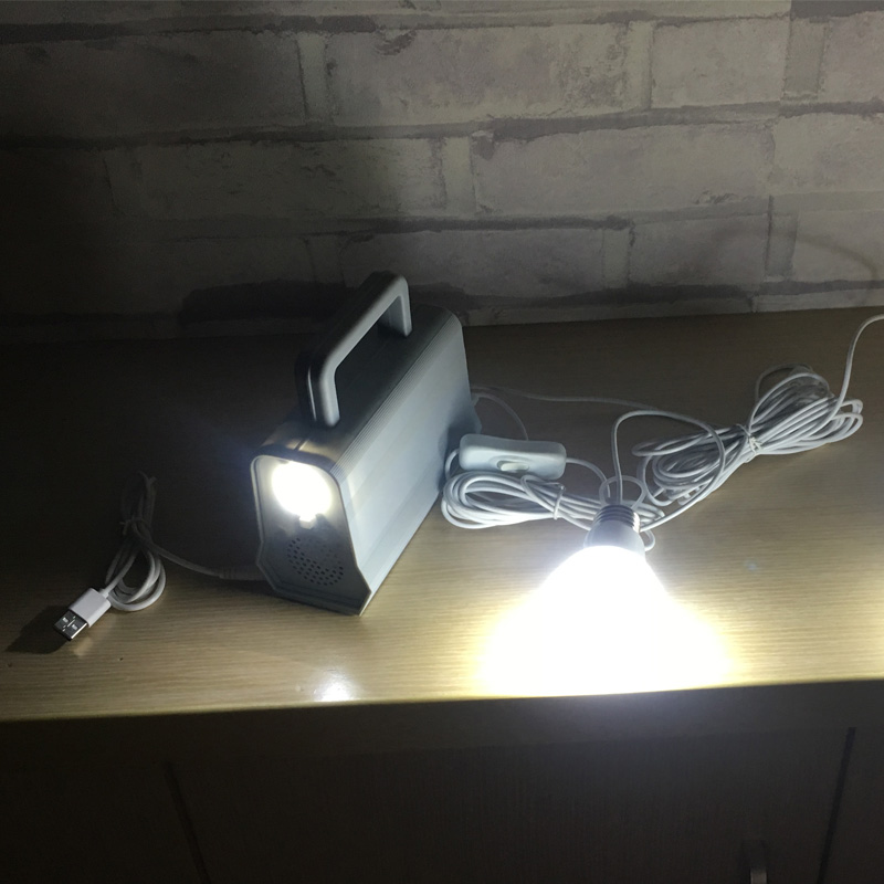 Mini kits portátiles de sistema de iluminación de energía solar para el hogar con altavoces de música solarenergie systems 2 en 1