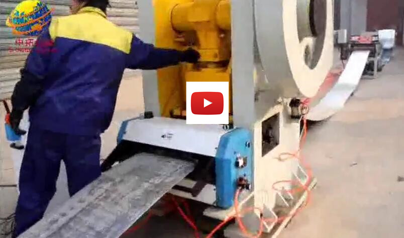 Automatic hydraulic steel sheet punching and cutting production line