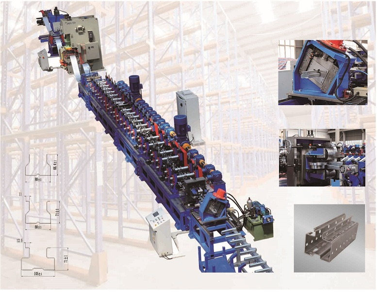 TF Shelves and racking beam Roll Forming Machine