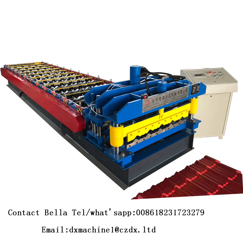 Galvanized Steel Glazed Tile Roll Forming Machine
