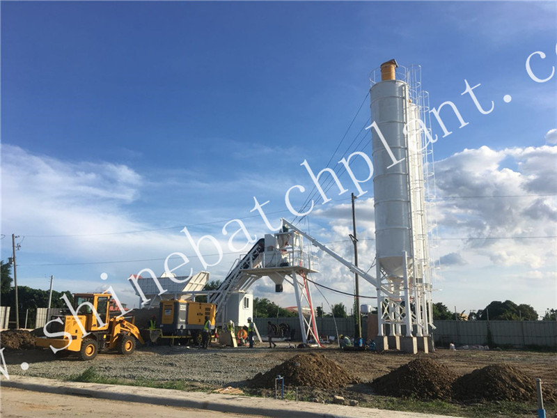 New Protable Concrete Batch Plant 25 In Philippines
