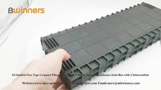 SJ-Small-6 New Type Compact Fiber Optic Splice Closure Junction Enclosure Joint Box with 2 Inlets/outlets