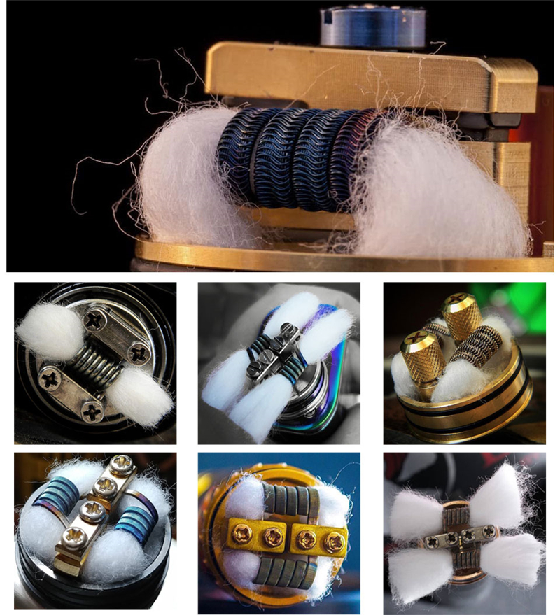 Wholesale E-cigarette Organic Cotton For Vaping 2018 New Products