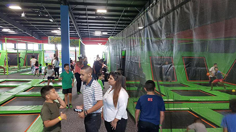 indoor trampoline park factory