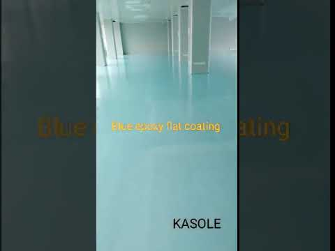 Blue epoxy flat coating