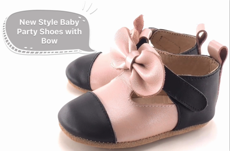 New Style Baby Party Shoes with bow