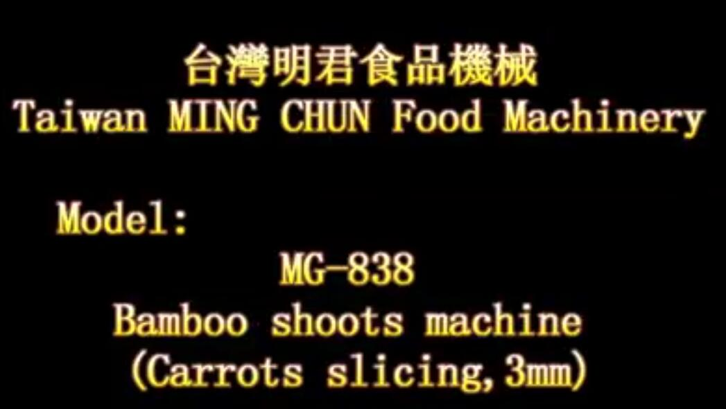 MG 838 Bamboo shoots machine Carrots slicing,3mm