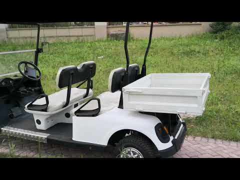 2 seats utility golf cart with rear cargo box/ golf cart with cargo bed