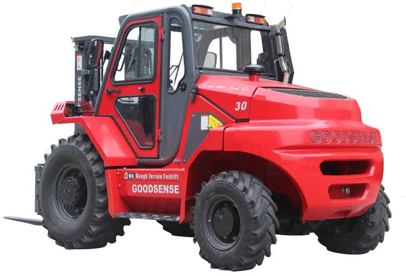 Test for 4WD Rough Terrain Forklift