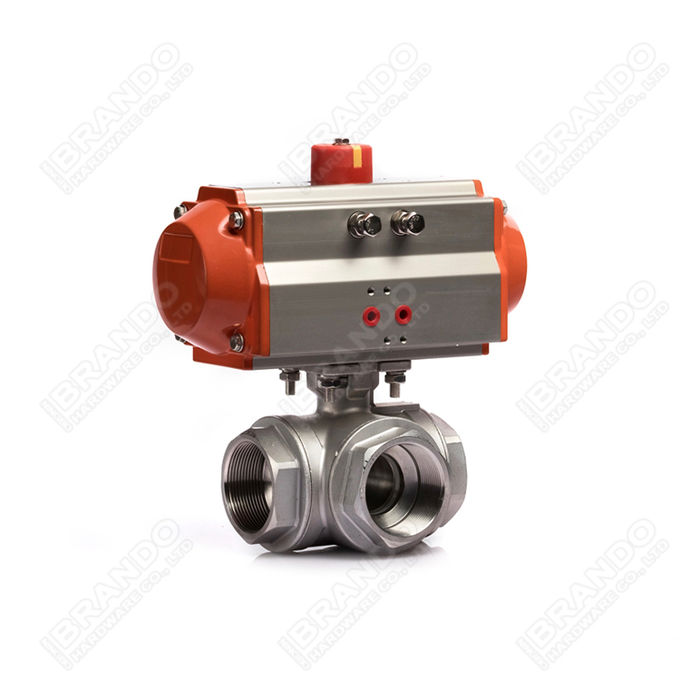 Sanitary Stainless Steel Tri Clamp Ball Valve With Pneumatic Actuator 7