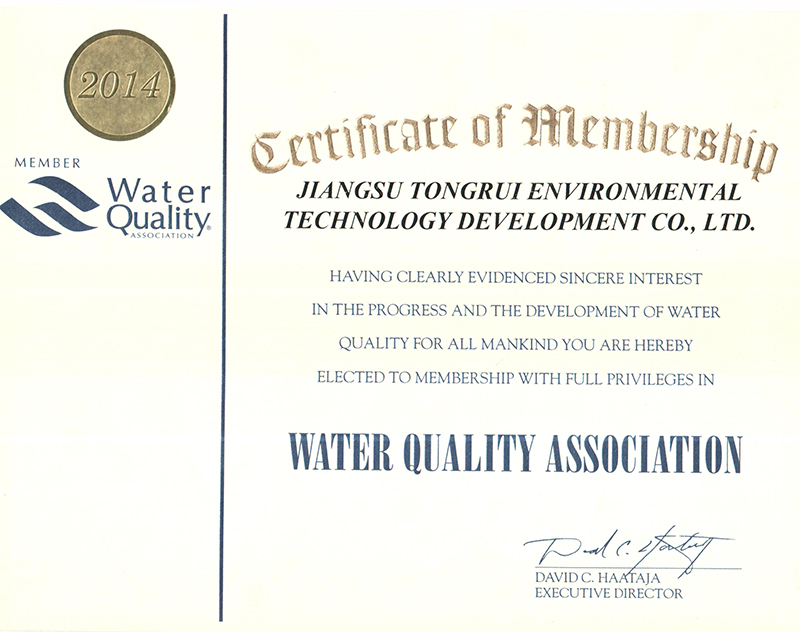 WQA Gold sealing