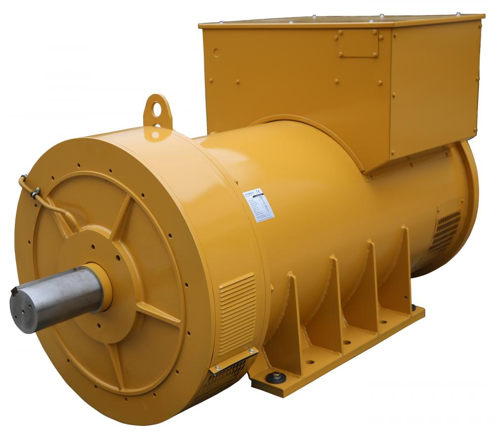 Yellow Double Bearing Marine Generator