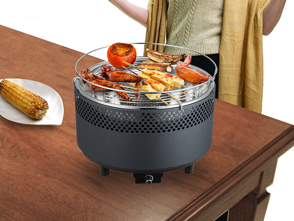 Round charcoal grill Barbeque